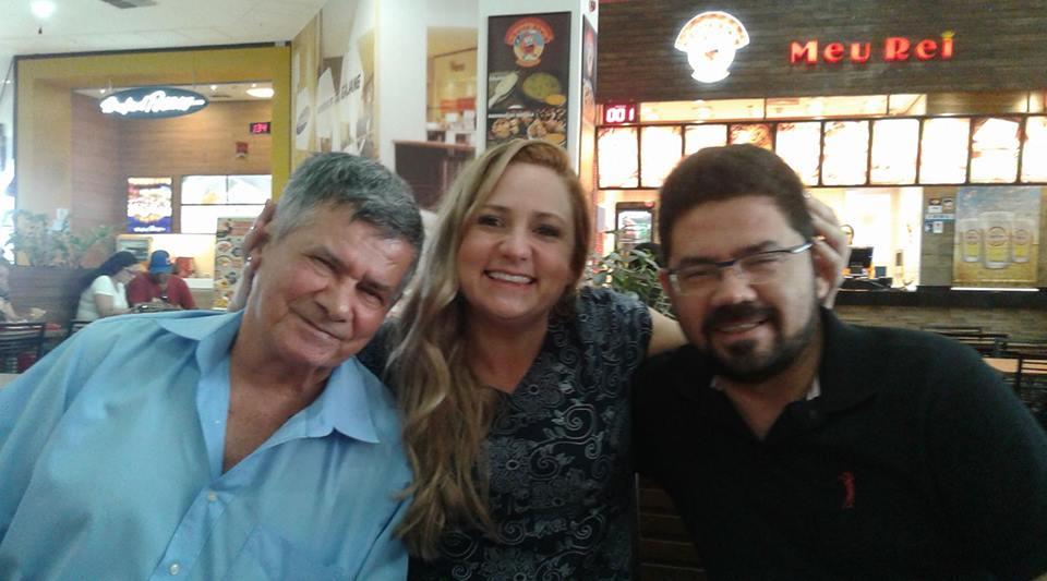 Eu, meu pai e me irmão